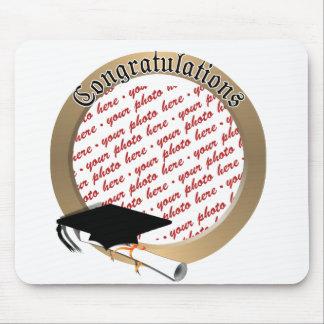 Graduation Cap w/Gold Frame (2) Mouse Pad