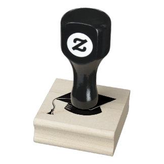 Graduation Cap Wood Rubber stamp