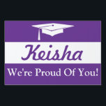 "Graduation Cap Yard Sign<br><div class=""desc"">Graphic design that is perfect for many graduations. Use as a shout out for your neighborhood, at a party or hold up this sign at graduation. Use as a photo prop or have your guests sign this at a graduation party. Purchase several for family and friend to proudly display in...</div>"