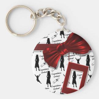 Graduation car gifts for women basic round button keychain