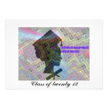 Graduation Card Afrochica Personalized Invite