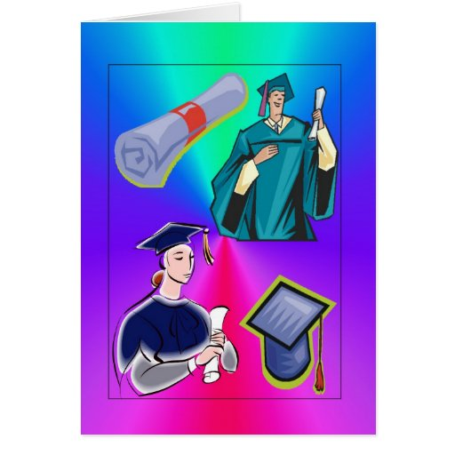 Graduation Card-Colorful
