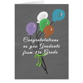 Graduation Card for 8th Grade, Chalkboard Design