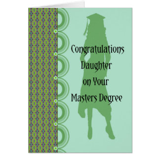 Graduation Card for Daughter with Masters Degree