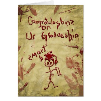 graduation card from zombie