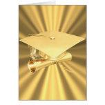 Graduation Card-Gold