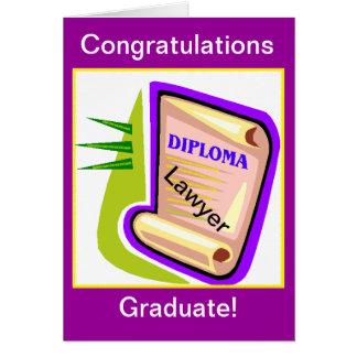 Graduation Card - Lawyer