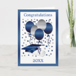 "Graduation Card with Mortar, diploma and balloons<br><div class=""desc"">Graduation Card with Mortar,  diploma and balloons</div>"