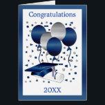 "Graduation Card with Mortar, diploma and balloons<br><div class=""desc"">Graduation Card with Mortar,  diploma and balloons</div>"