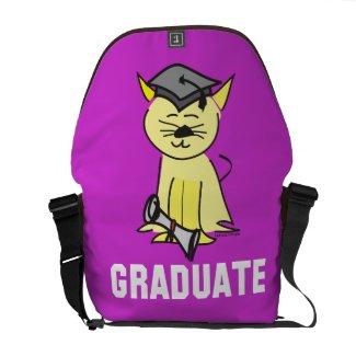 Graduation Cat Lover Courier Bag