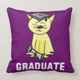 Graduation Cat Lover Pillow
