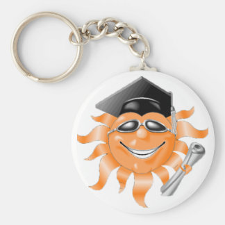 Graduation Celebration Basic Round Button Keychain
