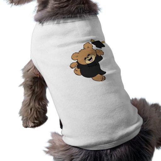 graduation celebration cute teddy bear design dog clothes