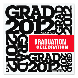 Graduation Celebration Invitation 2012 Black Red