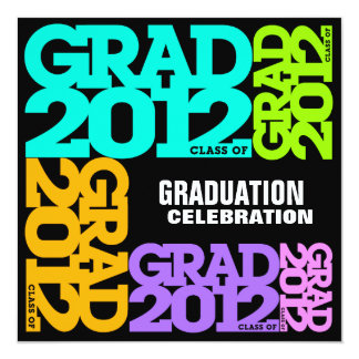 Graduation Celebration Invitation 2012 Color 1
