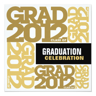 Graduation Celebration Invitation 2012 Gold 3