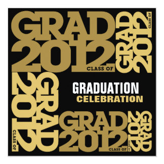 Graduation Celebration Invitation 2012 Gold 4