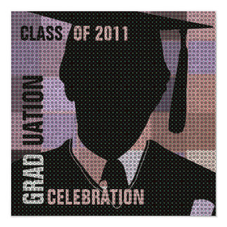 Graduation Celebration Invitation Cap & Gown Silo1