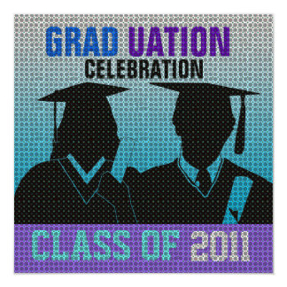 Graduation Celebration Invitation Cap Gown Silo12