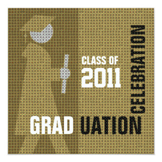 Graduation Celebration Invitation Cap & Gown Silo6