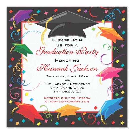 Graduation celebration party invitation card zazzle graduation celebration party invitation card stopboris Choice Image