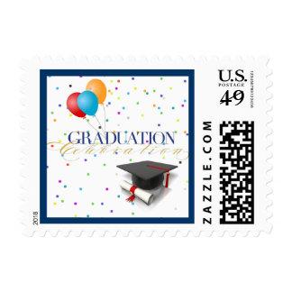 Graduation Celebration Postage Stamps