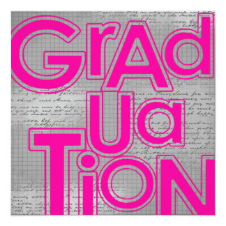 "Graduation Ceremony & Party Annoucements 5.25"" Square Invitation Card"