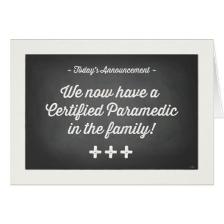 Graduation-Certified Paramedic in the Family Card