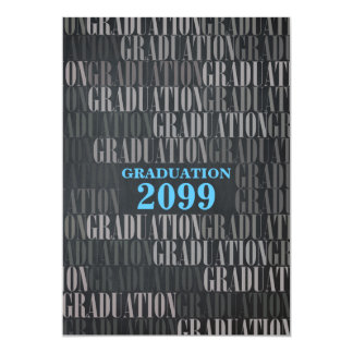Graduation Chalkboard, BLUE, Information back Card