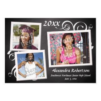 Graduation Chalkboard Photo Frames 5x7 Paper Invitation Card