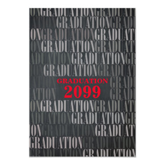 Graduation Chalkboard, RED, Information back Card