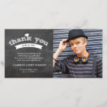 """Graduation Chalkboard Sketch Thank You Photo Card<br><div class=""""desc"""">Designed by fat*fa*tin. Easy to customize with your own text,  photo or image. For custom requests,  please contact fat*fa*tin directly. Custom charges apply.  www.zazzle.com/collections/graduation_invitations-119988321070623801  www.zazzle.com/collections/graduation_thank_you-119015369615228414  www.zazzle.com/fat_fa_tin www.zazzle.com/color_therapy www.zazzle.com/fatfatin_blue_knot www.zazzle.com/fatfatin_red_knot www.zazzle.com/fatfatin_mini_me www.zazzle.com/fatfatin_box www.zazzle.com/fatfatin_design www.zazzle.com/fatfatin_ink</div>"""
