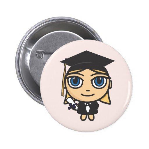 Graduation Character Button Badge