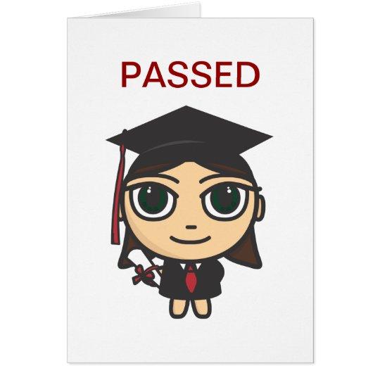 Graduation Character Passed  Graduation Card