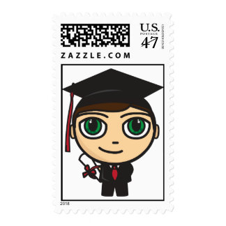Graduation Character Postage Stamp