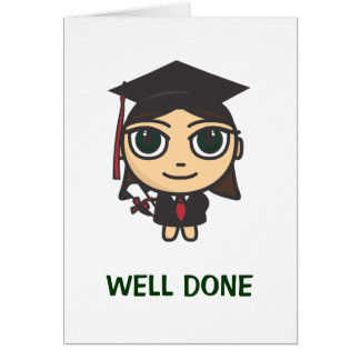 Graduation Character Well Done Graduation Card