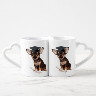 Graduation Chihuahua Coffee Mug Set