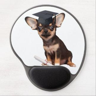 Graduation Chihuahua dog Gel Mouse Pad
