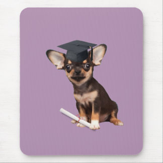 Graduation Chihuahua dog Mouse Pad