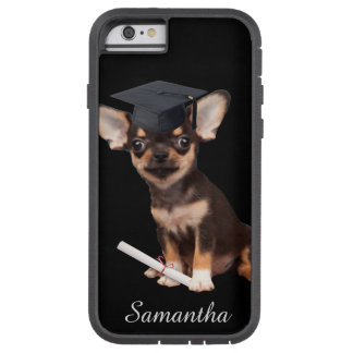Graduation Chihuahua dog Tough Xtreme iPhone 6 Case