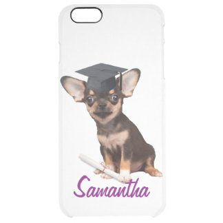 Graduation Chihuahua dog Uncommon Clearly™ Deflector iPhone 6 Plus Case