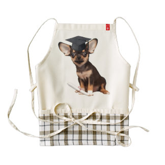 Graduation Chihuahua Zazzle HEART Apron