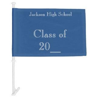 Graduation Class College or High School Car Flag