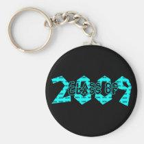 trend, setter, teens, graduation, class, 2009, teal, 2008, graduate, school, event, events, graduating, classes, senior, seniors, Keychain with custom graphic design