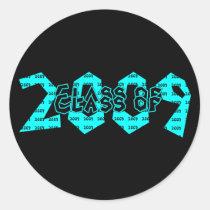 trend, setter, teens, graduation, class, 2009, teal, sticker, 2008, graduate, school, event, events, graduating, classes, senior, seniors, Sticker with custom graphic design