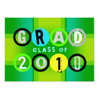 Graduation Class Of 2010 Circle Green Invitation