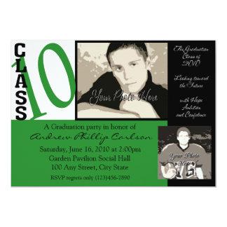 Graduation Class of 2010/ Green Photo Personalized Invites