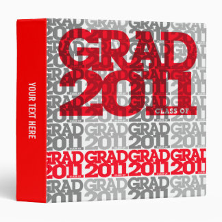 Graduation Class of 2011 Binder Tile Red