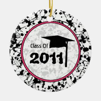 Graduation Class of 2011 Black Paint Splatter Ceramic Ornament