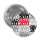 Graduation Class Of 2011 Button Black Red 5